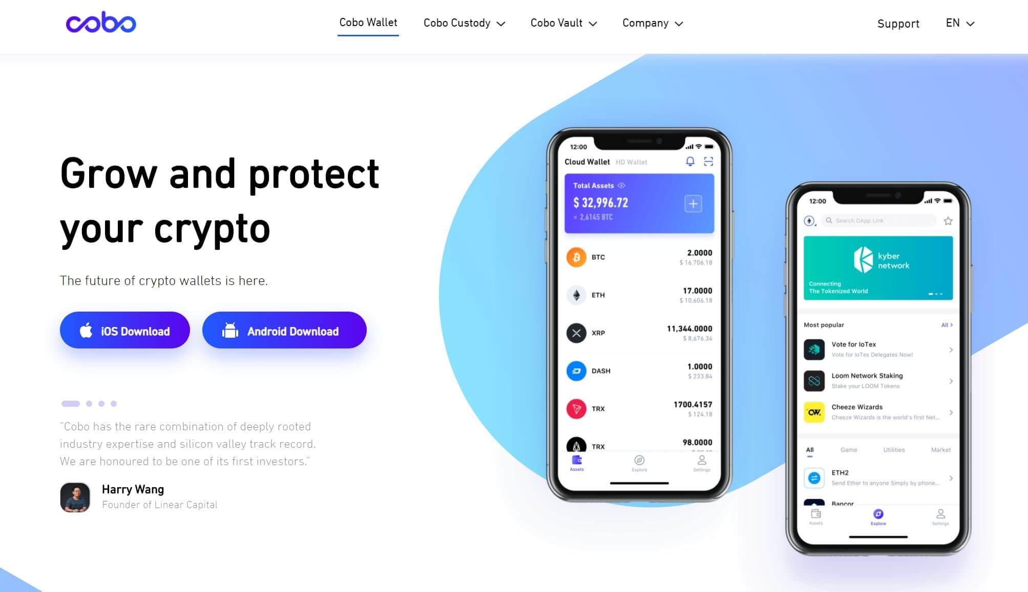 cobo wallet is a mobile wallet with staking features enabled