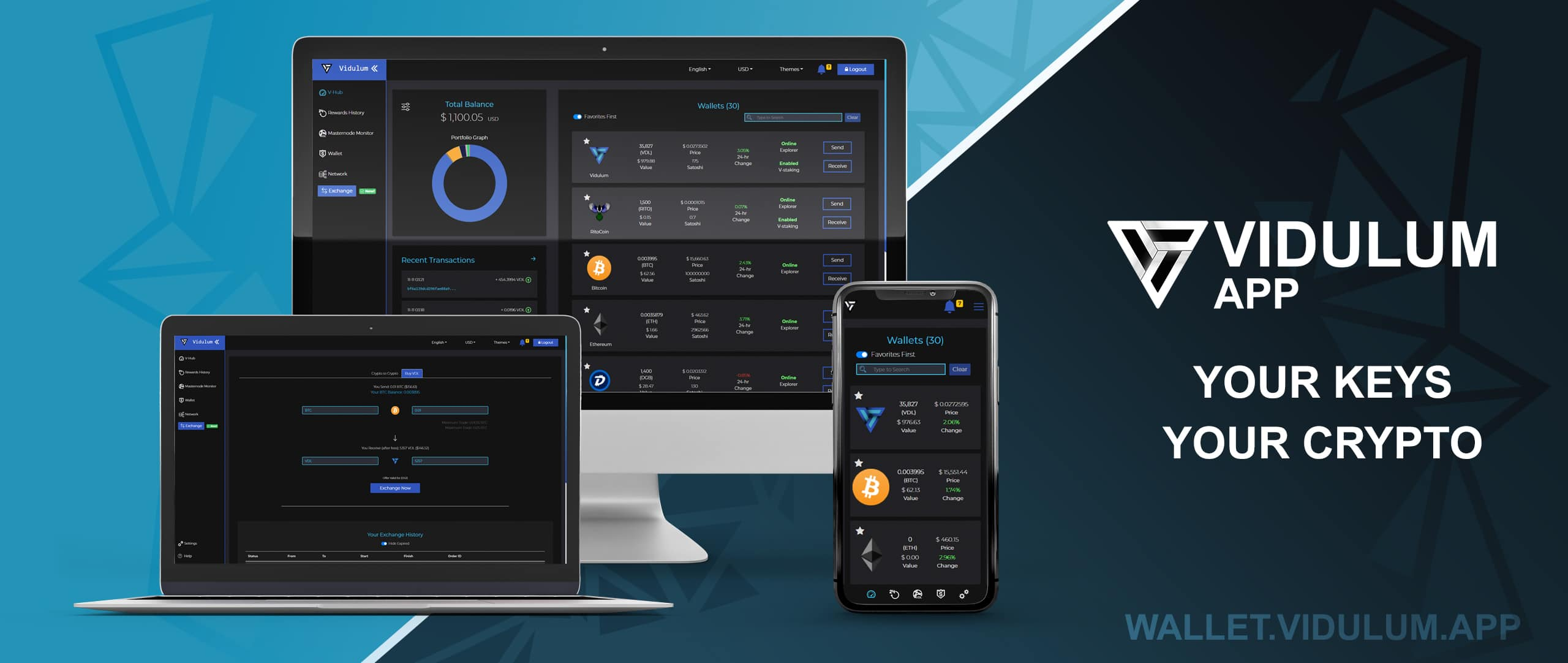 Vidulum wallet with staking features for their vdl token